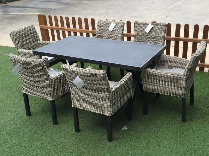 muebles de jardín de fibra